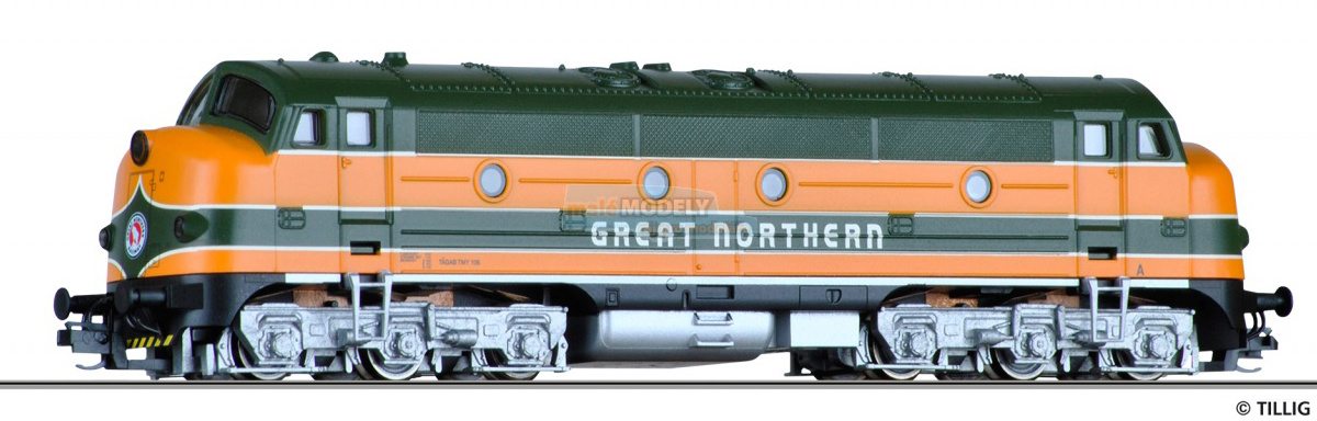 Dieselová lokomotiva TMY 106 <b>Great Northern</b>, TAG